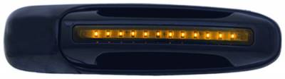 In Pro Carwear - Dodge Ram IPCW LED Door Handle - Front - Black - Right Side without Key Hole - 1 Pair - DLY02B04F1