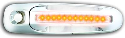 In Pro Carwear - Dodge Dakota IPCW LED Door Handle - Front - Chrome - Both Sides with Key Hole - 1 Pair - DLY02C04F