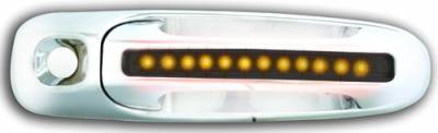 In Pro Carwear - Dodge Dakota IPCW LED Door Handle - Front - Chrome - Both Sides with Key Hole - 1 Pair - DLY02S04F