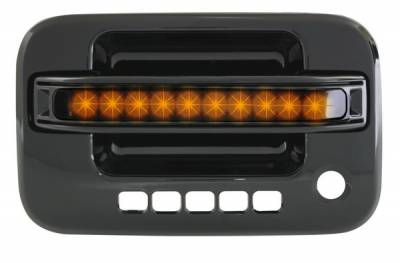 In Pro Carwear - Ford F150 IPCW LED Door Handle - Front - Black - Right Side without Key Hole - 1 Pair - FLA04BF1