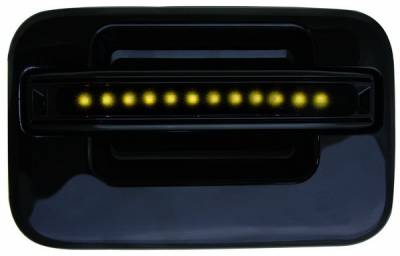 In Pro Carwear - Ford F250 IPCW LED Door Handle - Rear - Black without Key Hole - 1 Pair - FLA04BR
