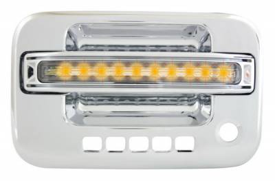 In Pro Carwear - Ford F150 IPCW LED Door Handle - Front - Chrome - Right Side without Key Hole - 1 Pair - FLA04CF1