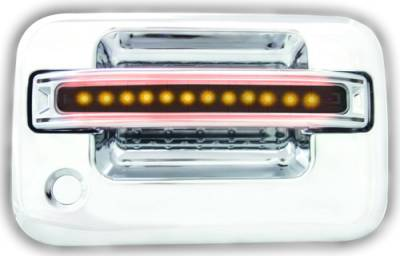 In Pro Carwear - Ford F250 IPCW LED Door Handle - Front - Chrome - Both Sides with Key Hole - 1 Pair - FLA04SF