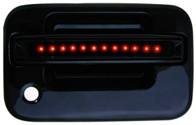 In Pro Carwear - Ford F150 IPCW LED Door Handle - Front - Black - Both Sides with Key Hole - 1 Pair - FLR04BF