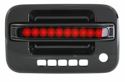 In Pro Carwear - Ford F150 IPCW LED Door Handle - Front - Black - Right Side without Key Hole - 1 Pair - FLR04BF1