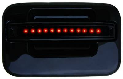 In Pro Carwear - Ford F250 IPCW LED Door Handle - Rear - Black without Key Hole - 1 Pair - FLR04BR