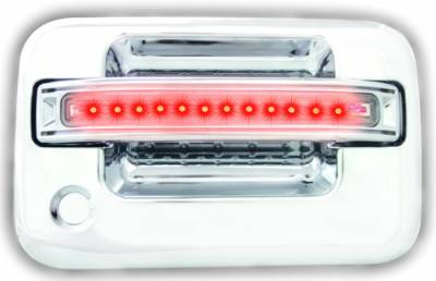 In Pro Carwear - Ford F250 IPCW LED Door Handle - Front - Chrome - Both Sides with Key Hole - 1 Pair - FLR04CF