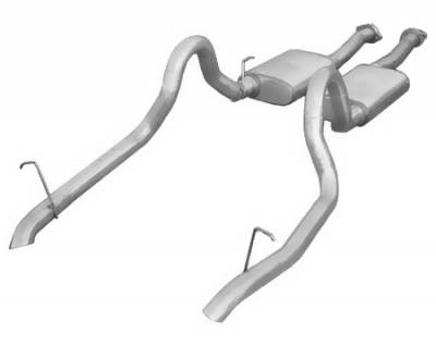 Pypes - Ford Mustang Pypes 409 Stainless Steel Violator Catback with Turndown Tailpipes - 20016