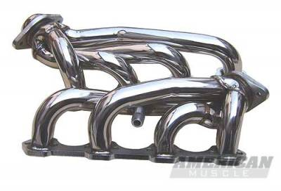 Pypes - Ford Mustang Pypes Polished 304 Stainless Steel Shorty Headers - 20031
