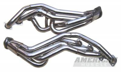 Pypes - Ford Mustang Pypes Polished 304 Stainless Steel Long Tube Headers - 20033