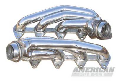 Pypes - Ford Mustang Pypes Polished 304 Stainless Steel Shorty Headers - 20034
