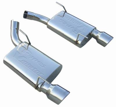 Pypes - Ford Mustang Pypes Fully Polished 304 Stainless Steel Violator Axle-Back Exhaust - 20043