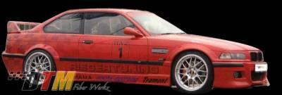 DTM Fiberwerkz - BMW 3 Series DTM Fiberwerkz RG Style Fender Flares - E36 Fender F
