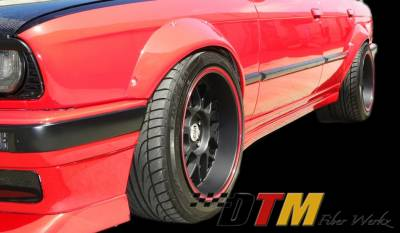 DTM Fiberwerkz - BMW 3 Series DTM Fiberwerkz Fender Flares - E30 Rivet On