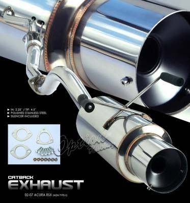 OptionRacing - Acura RSX Option Racing Cat-Back Exhaust System - 41-10145