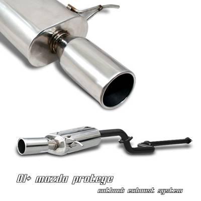 OptionRacing - Mazda Protege Option Racing Cat-Back Exhaust - 41-35120
