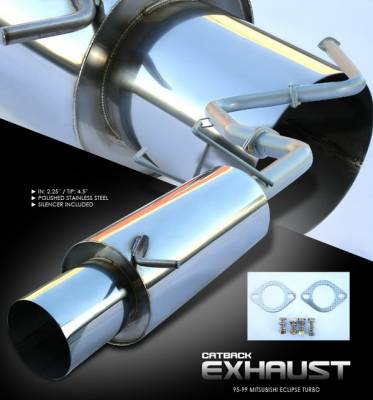 OptionRacing - Mitsubishi Eclipse Option Racing Cat-Back Exhaust System - 41-35121