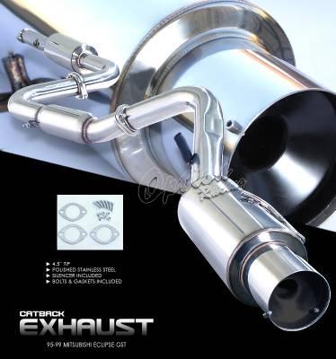 OptionRacing - Mitsubishi Eclipse Option Racing Cat-Back Exhaust - 41-35124