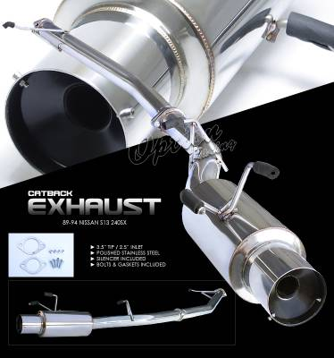 OptionRacing - Nissan 240SX Option Racing Cat-Back Exhaust - 41-36140