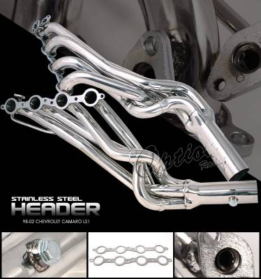 OptionRacing - Chevrolet Camaro Option Racing Racing Exhaust Header - 43-15138