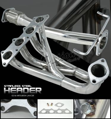 OptionRacing - Mitsubishi Lancer Option Racing Racing Exhaust Header - 43-35139
