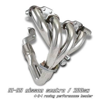OptionRacing - Nissan 200SX Option Racing Racing Exhaust Header - 43-36128