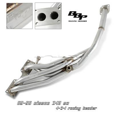 OptionRacing - Nissan 240SX Option Racing Racing Exhaust Header - 43-36129