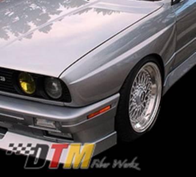 DTM Fiberwerkz - BMW 3 Series DTM Fiberwerkz OEM Style Wide Body Front Fenders - E30OEMM3FRT