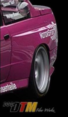 DTM Fiberwerkz - BMW 3 Series DTM Fiberwerkz OEM Style Wide Body Rear Fenders - E30-OEM-M3-R