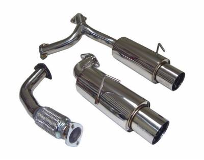 Megan Racing - Toyota MR2 Megan Racing Drift Spec Style Cat-Back Exhaust System - MR-CBS-TM90NT-O