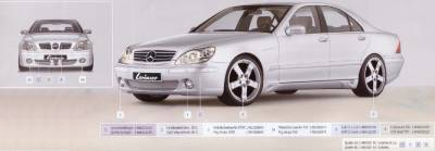 Lorinser - Mercedes-Benz S Class Lorinser CL Style Grille - Silver - 488 1223 10