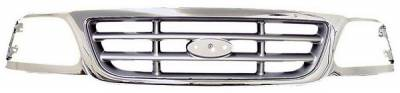 In Pro Carwear - Ford F150 IPCW Chrome Grille without Honeycomb - CWG-FD1607H0C