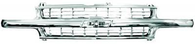 In Pro Carwear - Chevrolet Silverado IPCW Chrome Grille - 1PC - CWG-GR0407G0C