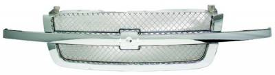 In Pro Carwear - Chevrolet Silverado IPCW Chrome Grille - Smooth without SS - 1PC - CWG-GR0407H0C
