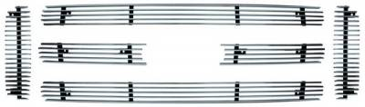 In Pro Carwear - Ford Superduty IPCW Billet Grille - Bolt-On - Honeycomb - 6PC - CWOB-05SD