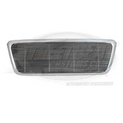 Macro Automotive - Macro Automotive Chrome Steel Grille Shell with Polished Billet Insert - ZSFD04FSC