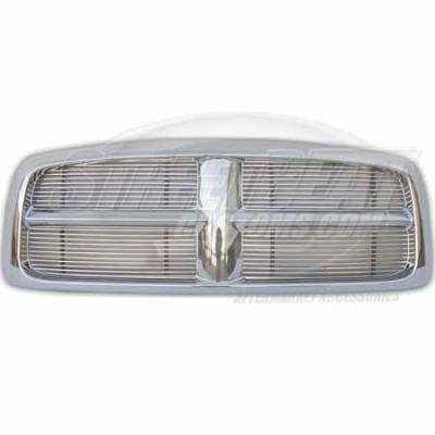 Macro Automotive - Macro Automotive Chrome Grille Shell Package with Polished Billet - ZSGM03CV