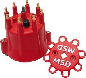 MSD - Chevrolet MSD Ignition Distributor Cap - Black - HEI - Retainer - 8433