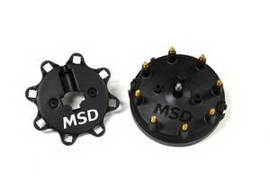 MSD - Ford MSD Ignition Distributor Cap - Black - HEI - 84083