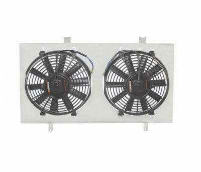 Mishimoto - Ford Mustang Mishimoto Dual High Flow 12 inch Fans with Lightweight Aluminum Shroud Kit - 80221