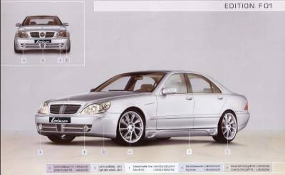 Lorinser - Mercedes-Benz S Class Lorinser F01 Fog Light Set with Mesh Grille for Edition Front Bumper Spoiler - 488 0269 10