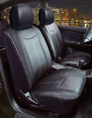 Saddleman - Mercury Topaz Saddleman Leatherette Seat Cover