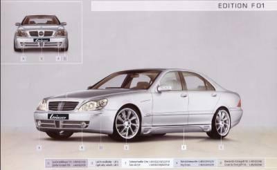 Lorinser - Mercedes-Benz S Class Lorinser F01 Front Bumper Spoiler - 488 0220 30