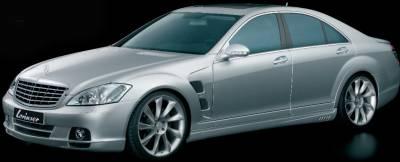Lorinser - Mercedes-Benz S Class Lorinser Exclusive Front Bumper Spoiler - 488 0221 43