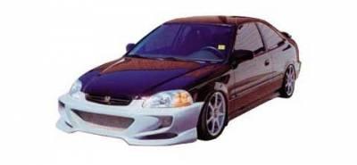 JSP - Honda Civic JSP Rave Body Style Front Bumper - F1601