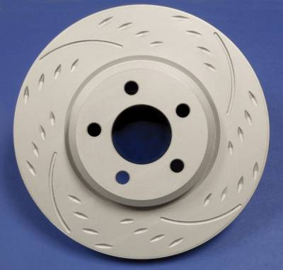 SP Performance - Volkswagen R32 SP Performance Diamond Slot Vented Rear Rotors - D01-222