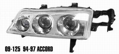 Matrix - Clear Projector Headlights with Chrome Housing - 9125