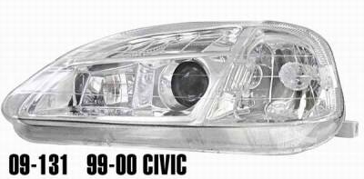 Matrix - Clear Projector Headlights with Chrome Housing - 9131