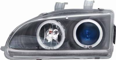Matrix - Blue Projector Headlights with Black Housing and 7 Color Halo Ring - 910127