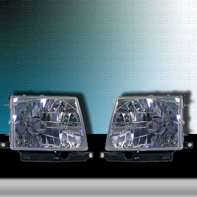 I-Tech - I-Tech Euro Diamond Back Headlights - 02-AZ-TT97-C